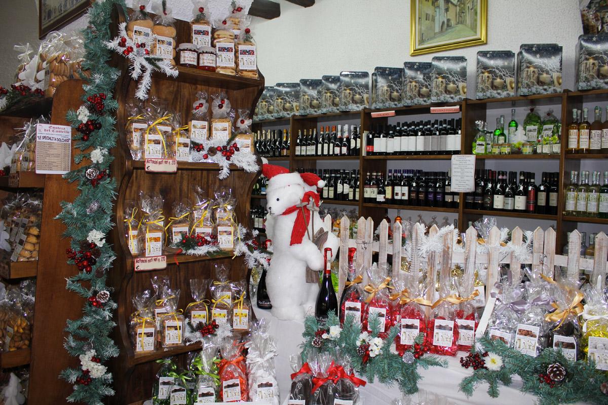 Prodotti natalizi enoteca del castello